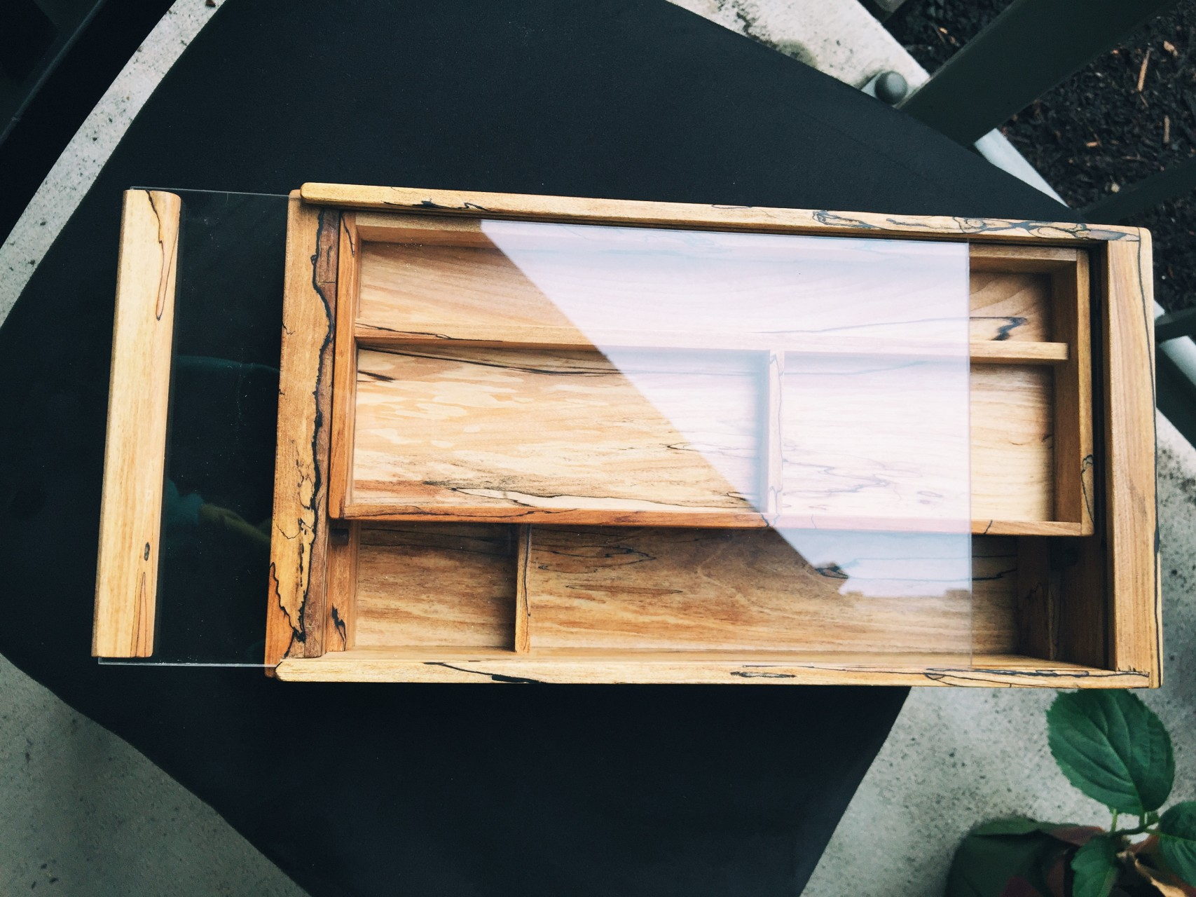 Toolbox in spalted Alder, felled in Portland. To find out more, read the article.