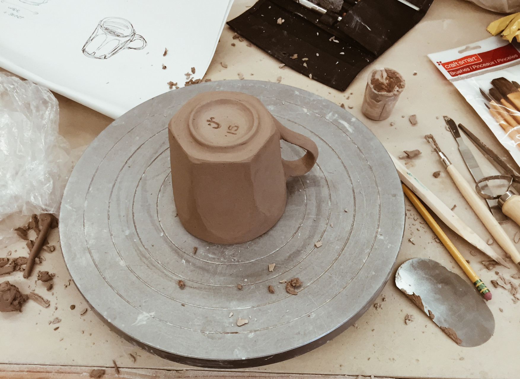 Ceramics, Making, sketching